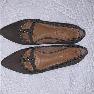 Corso Como Grey Leather Flats sz 6